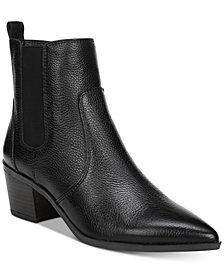 Franco Sarto Sienne Pointed-Toe Block-Heel Booties