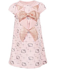 Hello Kitty Little Girls Tuxedo-Style Printed Dress