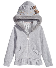 Hello Kitty Toddler Girls Fur-Trim Hoodie