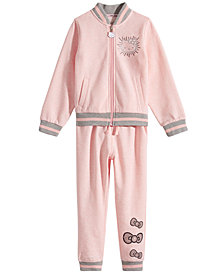 Hello Kitty Toddler & Little Girls Fleece Bomber Jacket & Jogger Pants