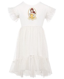 Disney Toddler Girls Belle Glitter Mesh Dress