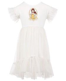 Disney Toddler Girls Belle Glitter Mesh Dress