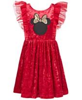 b7a2c62289045 Disney Little Girls Minnie Mouse Crushed Velvet Dress