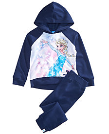 Disney Little Girls 2-Pc. Frozen Elsa Hoodie & Pants Set