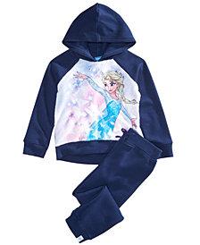 Disney Little Girls 2-Pc. Frozen Elsa Hoodie & Pants Set