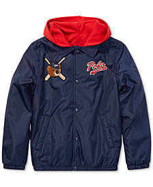 Polo Ralph Lauren Big Boys Polo Bear Coach Jacket