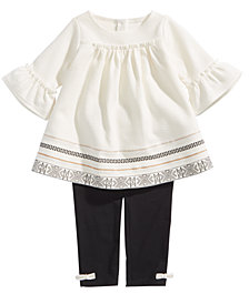 First Impressions Baby Girls 2-Pc. Printed Tunic & Leggings Set, Created for Macy's