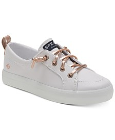 Sperry Little & Big Girls Crest Leather Sneakers