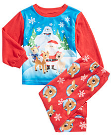 Rudolph the Red-Nosed Reindeer Toddler Boys 2-Pc. Fleece Pajama Set