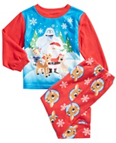 b9031510dc Rudolph the Red-Nosed Reindeer Toddler Boys 2-Pc. Fleece Pajama Set