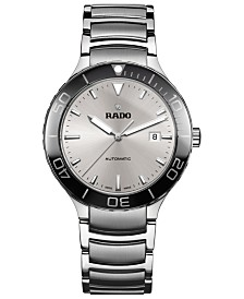 Rado Men's Swiss Automatic Centrix Stainless Steel Bracelet Watch 42mm