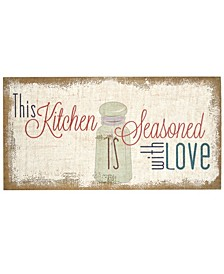 "Stratton Home Decor ""Seasoned with Love"" Typography Burlap"