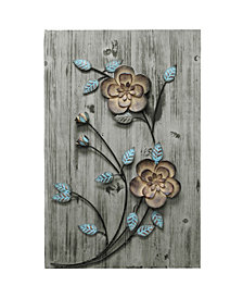 Stratton Home Decor Rustic Floral Panel II