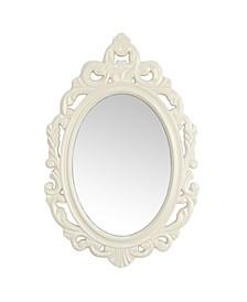 Stratton Home Decor White Baroque Mirror