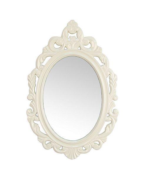 Stratton Home Decor Stratton Home Decor White Baroque Mirror