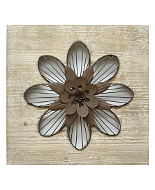 Stratton Home Decor Rustic Flower Wall Decor III