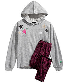 Epic Threads Big Girls Star Hoodie & Velvet Leggings, Created for Macy's