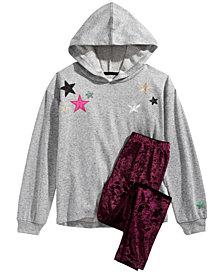 Epic Threads Big Girls Star Hoodie & Velvet Leggings, Created for Macy's