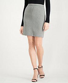 Anne Klein Houndstooth-Print Skirt