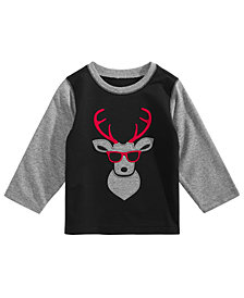 First Impressions Baby Boys Deer-Print T-Shirt, Created for Macy's