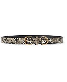 Lauren Ralph Lauren Python-Embossed Belt