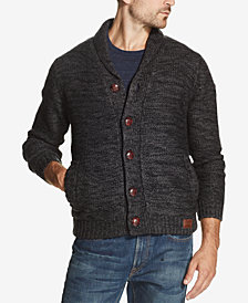 Weatherproof Vintage Men's Two-Tone Sweater Jacket