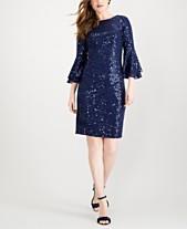 5ae2df66c322f SL Fashions Sequined Ruffle-Sleeve Sheath Dress