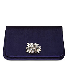 I.N.C. Mishel Velvet Brooch Clutch, Created for Macy's