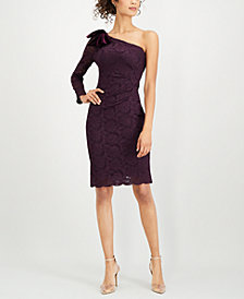 Jessica Howard One-Shoulder Lace Dress