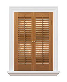 """Traditional Faux Wood Interior Shutter, 23-25""""  W x 28"""""""