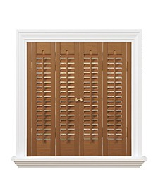 "Traditional Faux Wood Interior Shutter, 31-33""  W x 36"""