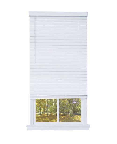 "US Shade & Shutter Cordless 2-in. Embossed Faux Wood Blind, 18""x72"""