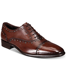 Roberto Cavalli Men's Cap-Toe Studded Oxfords