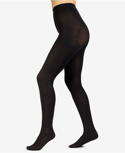 bde6a6eb7ee Berkshire Plus Size The Easy On! Cable-Knit Tights   Reviews ...