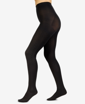 Image of Berkshire Plus Size The Easy On! Cable-Knit Tights