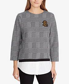 Lauren Ralph Lauren Layered-Look Bullion-Crest Top