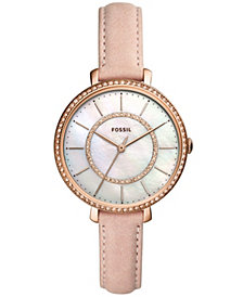 Fossil Women's Jocelyn Blush Leather Strap Watch 36mm