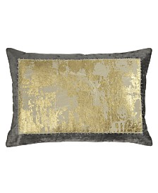 Michael Aram Linen Distressed Metallic Lace Pillow