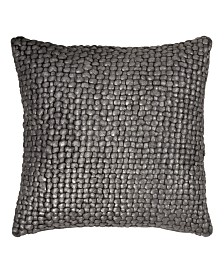 Michael Aram Chocolate Metallic Palm Basketweave Pillow