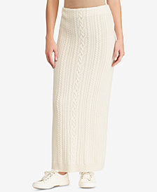 Lauren Ralph Lauren Cable-Knit Maxi Skirt