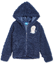 Disney Little Girls Elsa Faux-Fur Hoodie