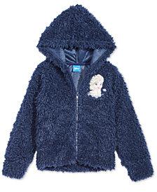 Disney Little Girls Elsa Faux-Fur Hoodie
