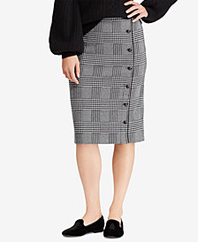 Lauren Ralph Lauren Glen Plaid Pencil Skirt
