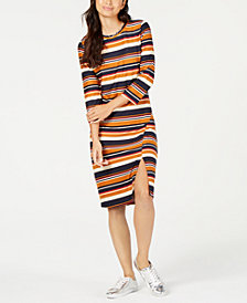 Monteau Petite Striped Bodycon Dress