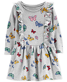 Carter's Toddler Girls Cotton Butterfly-Print Dress