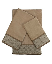 Sherry Kline Norwich 3-piece Embellished Towel Set