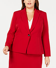 Kasper Plus Size Single-Button Blazer