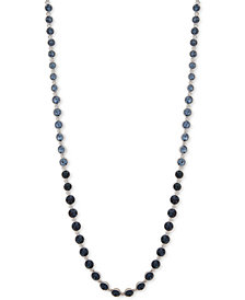 "Givenchy Crystal Bezel 36"" Statement Necklace"