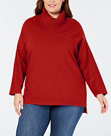 Style & Co Plus Size Cowl-Neck Sweater, Created for Macy's