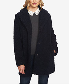 CeCe Shearling Snap-Button Coat